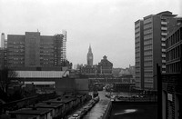 Barbican construction site, looking towards Westminster, c. 1964.