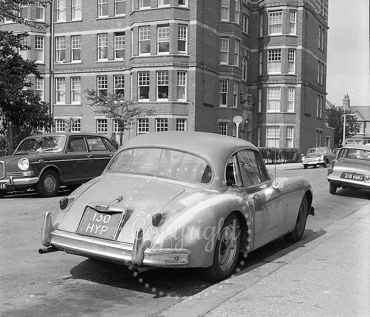 1957 Jaguar XK 150 FHC, owned in May 1968.